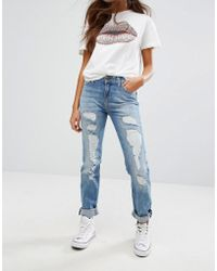 Lee Jeans - Elly Straight Leg With Rips - Lyst