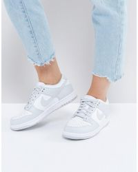 Nike - Dunk Low Trainers In Grey And White - Lyst