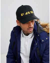 DIESEL - Cap With Ripped Logo - Lyst