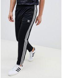 adidas Originals - Adicolor Popper Joggers In Black Cw1283 - Lyst