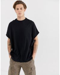 d476dc4e0 ASOS Extreme Oversized T-shirt With Back Embroidery And Roll Sleeve ...