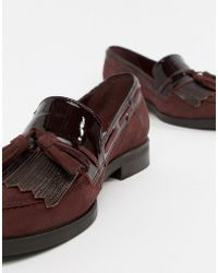 Dune - Flat Suede Loafers - Lyst