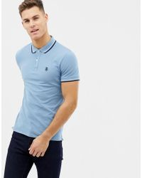 SELECTED - Polo With Tipping - Lyst