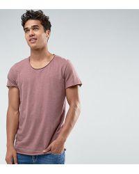 Jack & Jones | Originals Long Line T-shirt With Scoop Neck And Raw Hem | Lyst