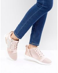 ALDO - Trainer In Satin With Embellishment - Lyst