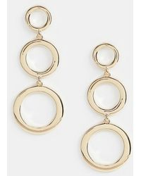 Missguided - Triple Circle Drop Earring In Gold - Lyst