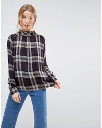 B.Young - Plaid Blouse - Lyst