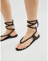f4dc51517 E8 - E8 By Miista Rope Detail Tie Leather Sandals - Lyst