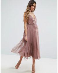 ASOS - Asos Pinny Extreme Tulle Mesh Midi Dress - Lyst