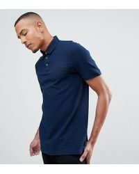 Ted Baker - T For Tall Textured Polo Shirt In Navy - Lyst