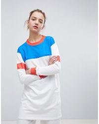 Daisy Street - Oversized Sweatshirt In Colour Block - Lyst