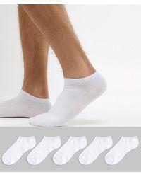 Jack & Jones - Trainer Socks 5 Pack - Lyst