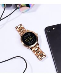 Fossil - Q Ftw6000 Venture Bracelet Smart Watch In Rose Gold - Lyst