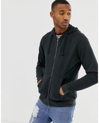 e8604bff65bb Converse Zip-up Hoodie In Block Print In Grey 10003605-a01 in Gray ...