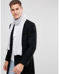 ASOS - Asos Knitted Scarf In Grey Chenille - Lyst