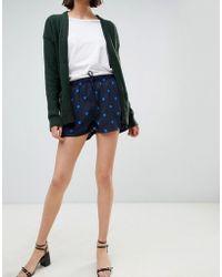 Ichi - Printed Shorts - Lyst
