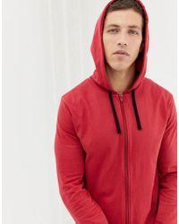 ASOS - Hooded Onesie In Rusty Red - Lyst
