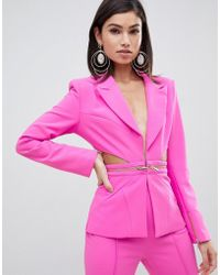 Forever Unique - Cut Out Suit Blazer - Lyst
