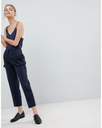 SELECTED - Oversized Turn Up Cuff Trousers - Lyst