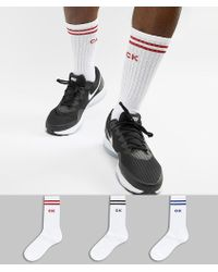 Calvin Klein - Sport Sock 3 Pack With Stripe - Lyst
