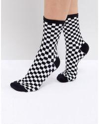 Vans   Checkerboard Ankle Socks   Lyst