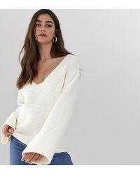 ASOS - Asos Design Tall Slouchy V Neck Sweater - Lyst