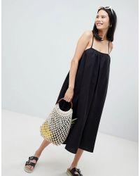 Monki - Trapeze Midi Cami Dress - Lyst