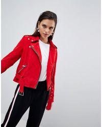 Y.A.S - Suede Biker Jacket - Lyst