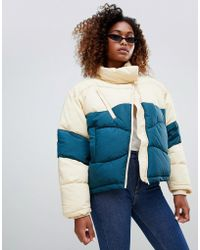 Weekday - Short Color Block Padded Jacket - Lyst