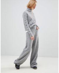 Shae - Alpcaca And Merino Wool Blend Lounge Trousers - Lyst