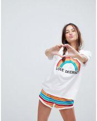 ASOS - Asos Love Diversity Tee And Short Pyjama Set - Lyst