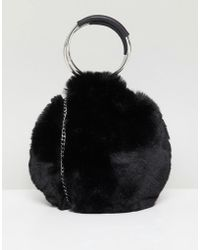 New Look - Round Fur Bag - Lyst