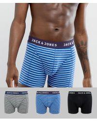 Jack & Jones - 3 Pack Stripe Trunks - Lyst