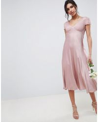 Ghost - Bridesmaid Capped Sleeve Maxi Dress - Lyst