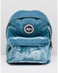 afd2a478c887 Hype - Exclusive Teal Velvet Backpack With Pom - Lyst