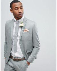Boohoo - Wedding Slim Fit Suit Jacket In Gray - Lyst