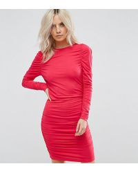 ASOS - Ruched Mini Bodycon Dress - Lyst