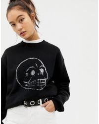 Cheap Monday - Get Sweat Fade Skull Sweatshirt - Lyst
