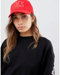 Ivy Park - Logo Baseball Cap In Red - Lyst