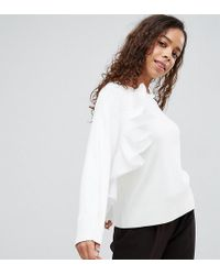 ASOS | Sweater With Ruffle Detail | Lyst