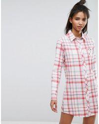 Esprit - Check Night Shirt - Lyst