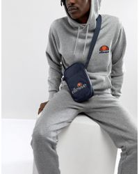 Ellesse - Flight Bag With Logo In Navy - Lyst
