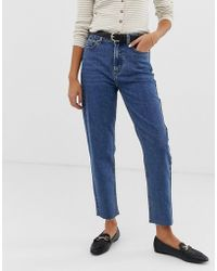 ONLY - High Waisted Straight Leg Jeans - Lyst