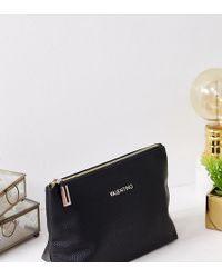 Valentino By Mario Valentino - Cosmetic Bag In Black - Lyst
