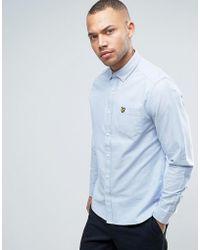 Lyle & Scott - Oxford Shirt Buttondown Regular Fit Eagle Logo In Light Blue - Lyst