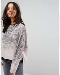 AllSaints - All Saints Sweat Top In Tiger Print - Lyst