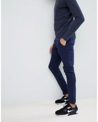 Blend | Slim Fit Chino In Navy | Lyst