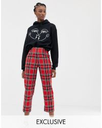 Reclaimed (vintage) - Inspired Trousers In Check - Lyst