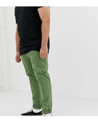 ASOS - Plus Skinny Chinos In Washed Green - Lyst