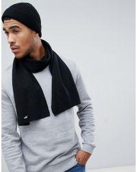 PUMA - Knit Scarf In Black 05325604 - Lyst